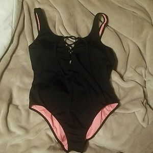 Lace Up Front Swimsuit
